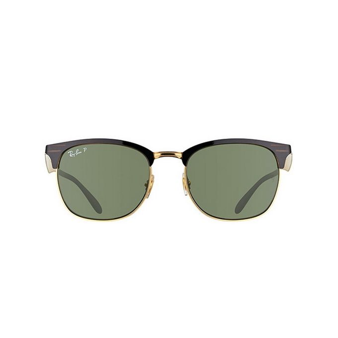 ea8e9c3e289fe8 ... Ray-Ban ClubMaster RB 3538 187 9A Polarized Black Gold Grey Green ...