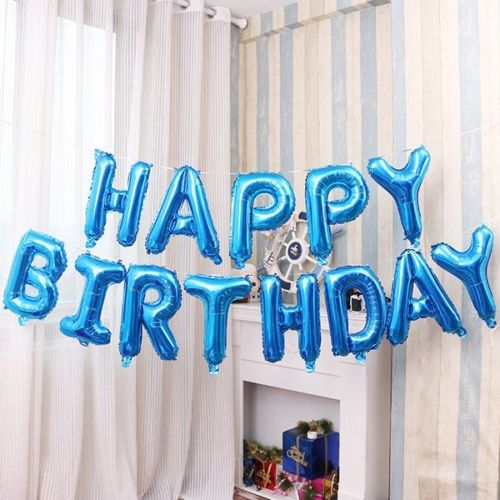 Generic 16 Gloss HAPPY BIRTHDAY Balloons Foil Banner Bunting Party Decoration 13 Pieces