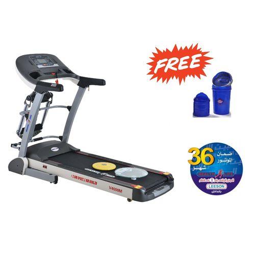V4000M Multi-function Motorized Treadmill 140Kg - Free Shaker Bottle +  Personal Scale