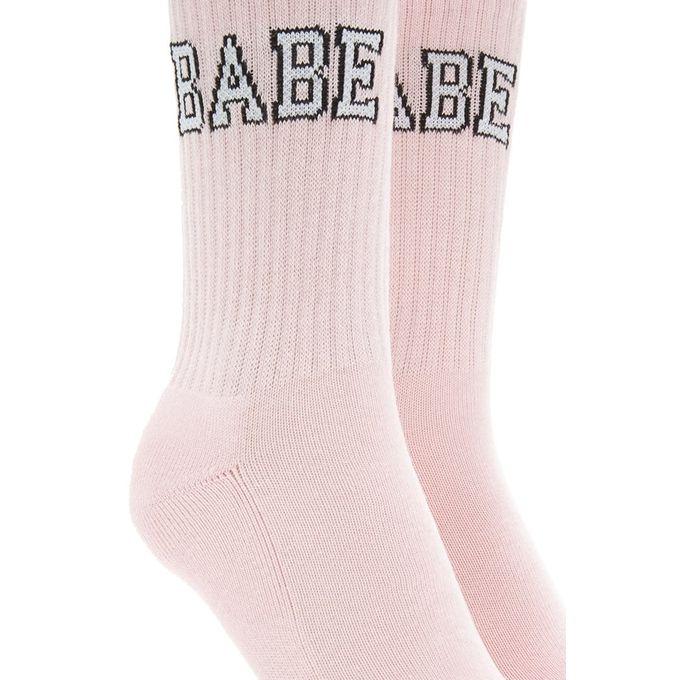 Babe Graphic Crew Socks