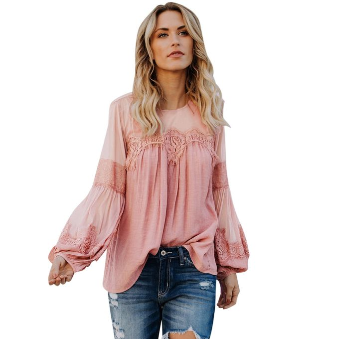 Sleeve Summer Generic Long Beach Women Loose Casual Sale Blouse On qZYSwR