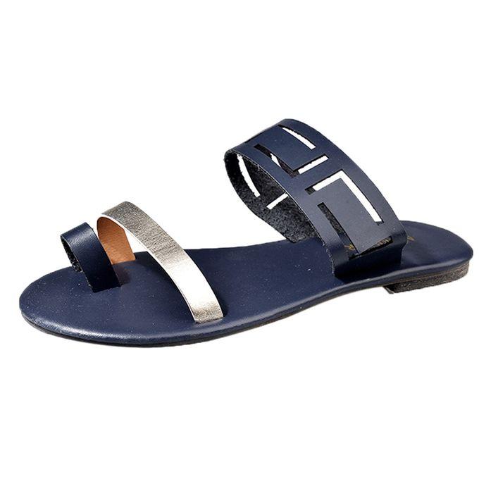 49dcbb682 Blicool Shop Women Sandals Summer Hollow Flat Sandals Sexy Casual Fashion Flip  Flops Women Clip Toe ...