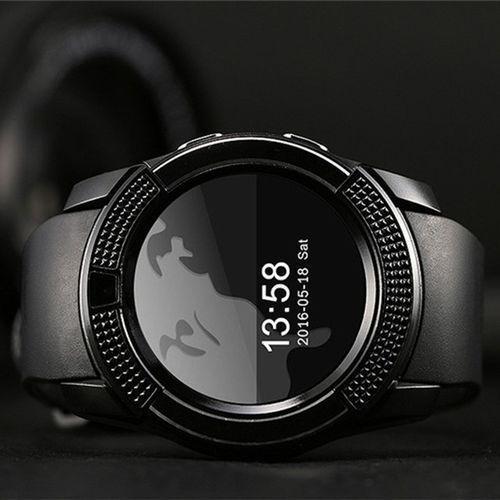 V8 Sw Bluetooth Smart Watch - Black
