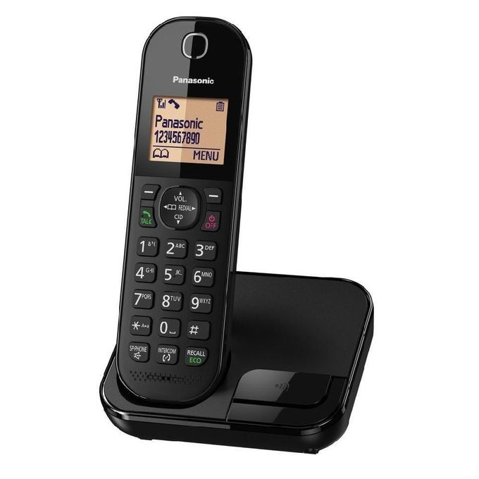 3ba918655c6 Panasonic KX-TGC410 DECT Cordless Phone Stylish - Compact Base Unit - Black