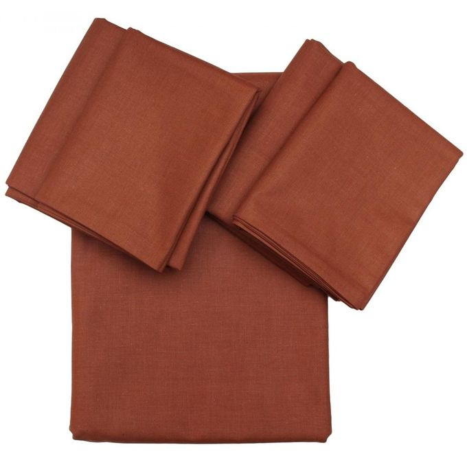 Bed Sheet + Pillow Cover – 4 Pcs – 240 X 260 Cm – Brown –  مصر
