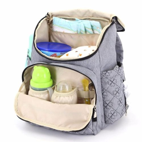 fb0e45a6540b Universal New Mummy Maternity Baby Diaper Bag Travel Backpack Nappy  Organizer Nursing Tote Grey