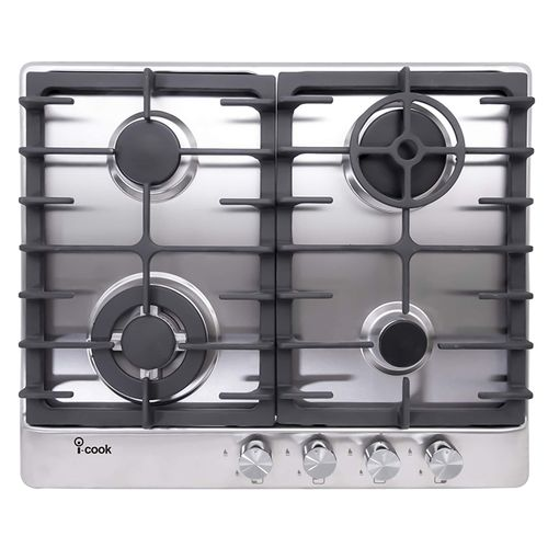 BH5060S-8-IS 4 Burners Gas Built-In Hob - Stainless Steel - 60 cm