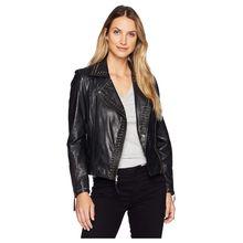 60f8dc2dd4710 Rachelle Studded Ladies Saturday Night Ladies Leather Jacket