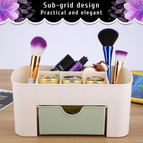 Outstanding Multifunctional Desk Desktop Organizer Drawer Stationery Holder Makeup Storage Box Home Green Interior Design Ideas Skatsoteloinfo