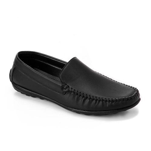 Slip on Leather Shoes - Black