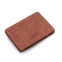 6985251c71819 Men Slim Wallet Leather Credit Card Holder Coin Zip Bag Money Clip Billfold