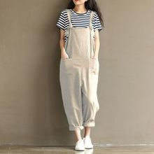 73f5e081a647e ZANZEA Rompers Womens Jumpsuits Casual Vintage Sleeveless Backless Casual  Loose Solid Overalls Strapless Playsuits Plus Size