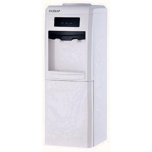 موزع مياه بارد و ساخن مزود بكابينة للحفظ - أبيضHD-1025