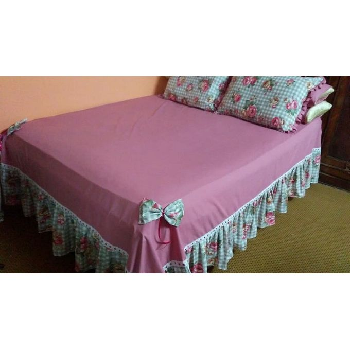 Bed Sheet Set – 5 Pcs – Pink –  مصر