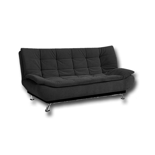 3 Seaters Velvet Sofa Bed 190x120 Cm Black