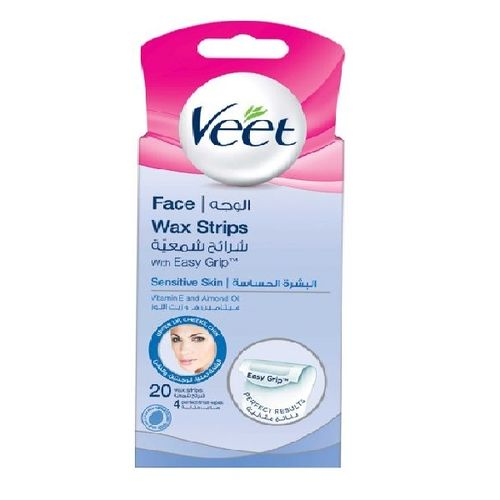Veet Face Hair Removal Wax Strip For Sensitive Skin 20 Strips