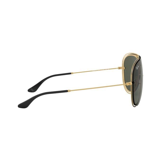 a8fbba0290 Sale on New Ray Ban Sunglasses 3605n 187 71 Green   Gold Aviator ...