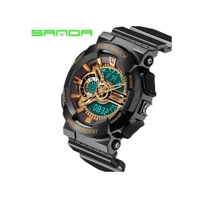 4cdff41c9 Authentic Luxury Mens LED Digital Sports Watch Waterproof Rubber Date Alarm  Wrist Watch