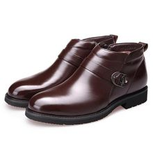6e84492b619ac Fashion Men Microfiber Leather Plush Lining Side Zipper Casual Ankle Winter  Warm Boots