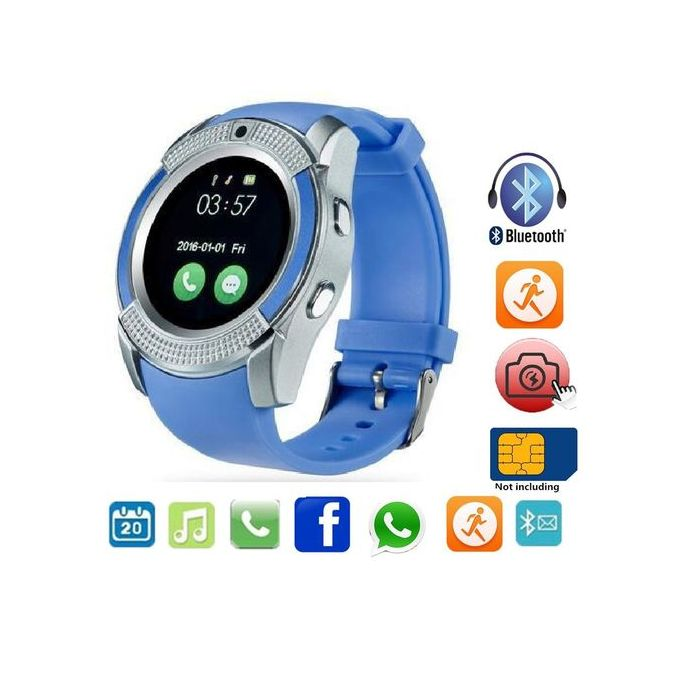 Smart Watch For IOS/Android Model V8 - Blue