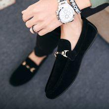 d51425032 أحذية جديدة عارضة الأحذية المد الرجال الأزياء والأحذية البازلاء الرجال  الأحذية كسول وضع القدم الاتجاه دواسة