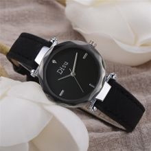 b5b957de5 Olivaren_Fashion Women Retro Design Leather Band Analog Alloy Quartz Wrist  Watch