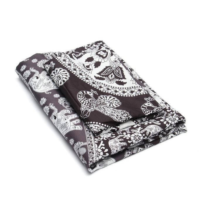 Indian Mandala Quilt Duvet Doona Single Black Elephant Bohemian Bedding Cover –  مصر