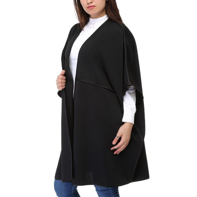 Quilted Cardigan - Black