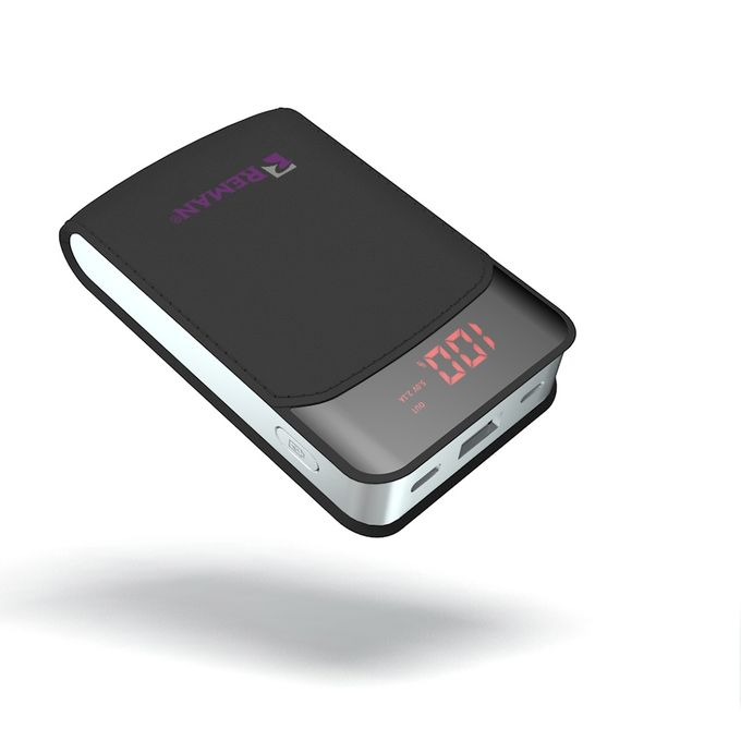Power Bank With 3 Input Type C, Micro,iPhone 10000 MAh - Black