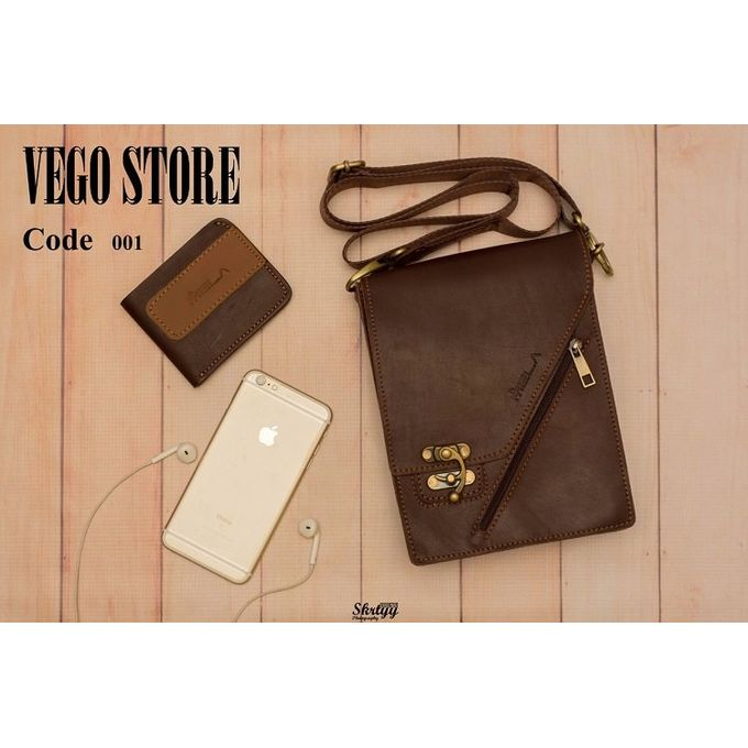 f589da67fe69 Sale on Men Leather Cross-body Bag - Brown | Jumia Egypt