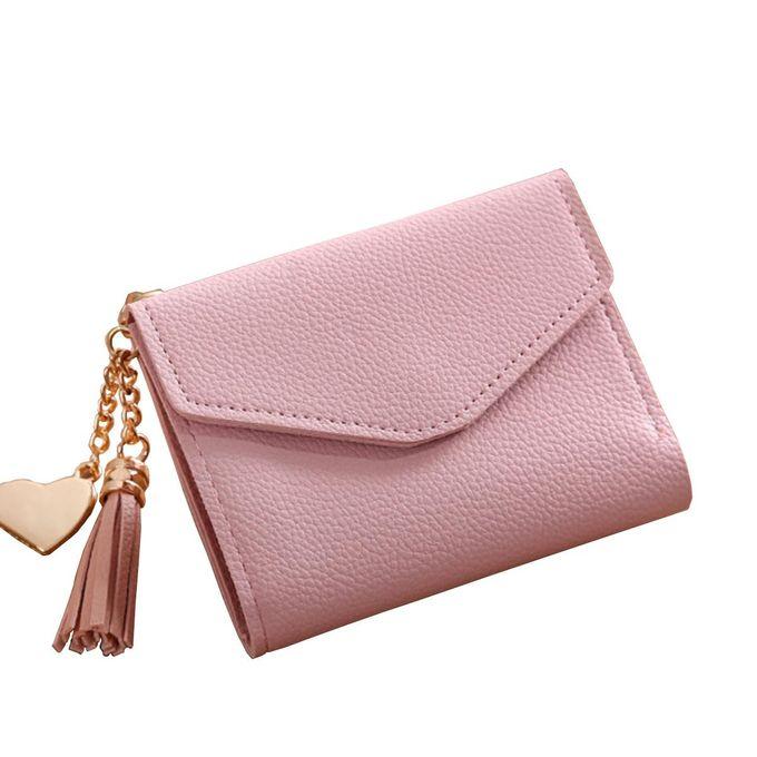3e03857c9d2 Women Mini Tassel Wallet Card Holder Clutch Coin Purse Leather Handbag  Purse#pink