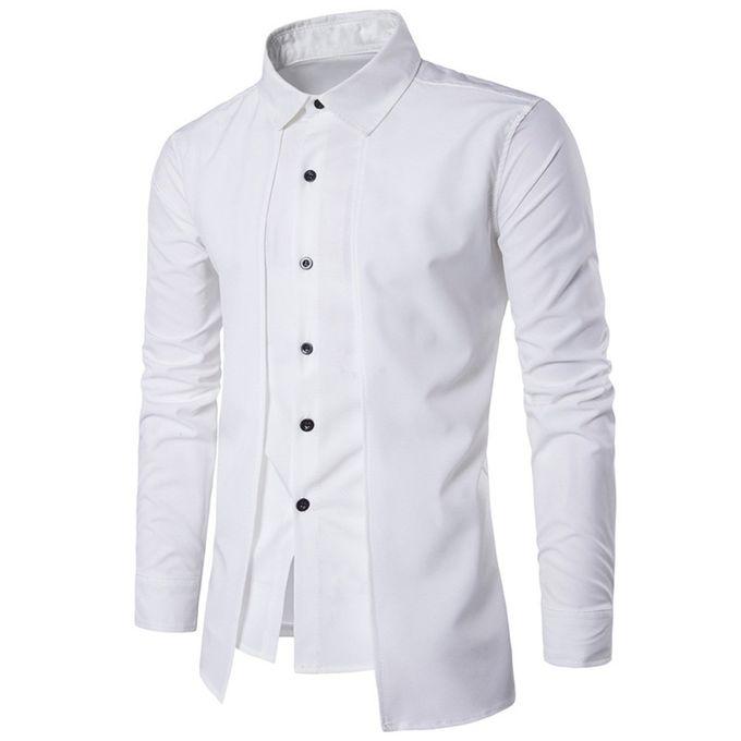 aec91180155 Xiuxingzi Luxury Men Casual Shirt Long Sleeve Formal Business Slim Dress  Shirt T Shirt Top