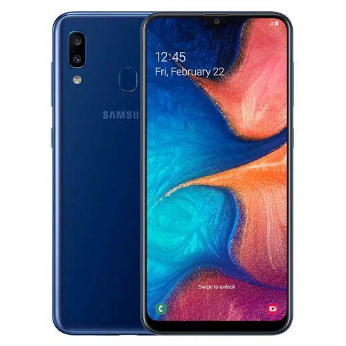 موبايل سامسونج جالكسي موبايل سامسونج جالاكسي Samsung Galaxy A20 - 6.4 بوصة 32 جيجا بايت ثنائي الشريحة  4G موبايل  أزرق