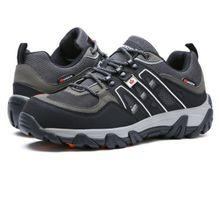 968c07fdf الرجال تنفس سلامة الأحذية رفع الأحذية الصلب اصبع القدم حذاء العمل -- أسود