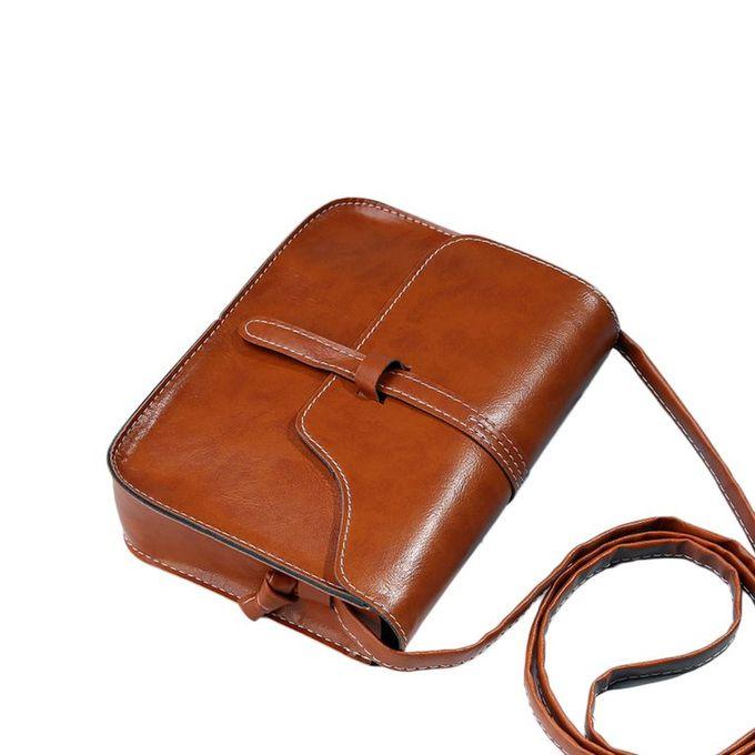323c27c54d44 Vintage Women Travel Bag PU Leather Cross Body Messenger Bag Small Square  Bag Light Brown