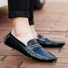 fae6963d5e097 أحذية مسطحة عارضة الرجال مخيط يدويا الجلود عارضة أحذية رجالية أحذية الأعمال  أزياء أحذية رجالية عادية
