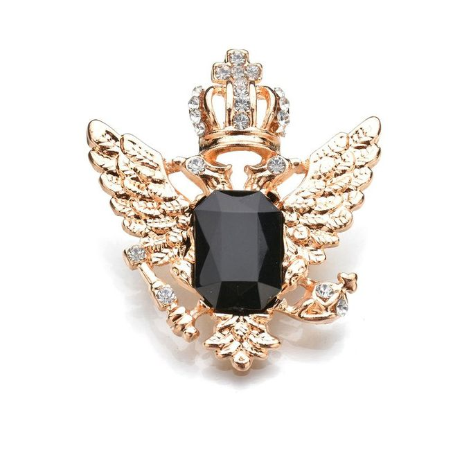 Fashion Brooch Diamonds Wild Clothing Accessories Color Brooch Clothing  Match Golden Black