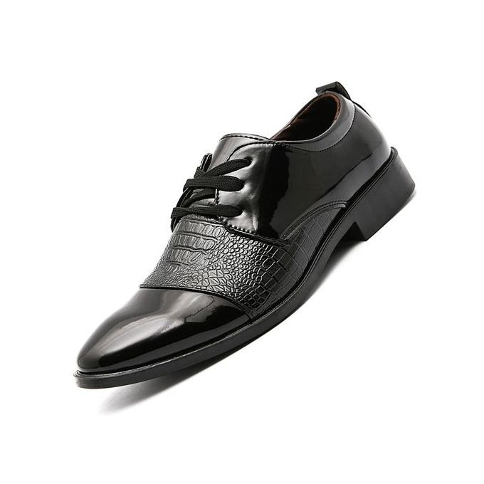 951dd474b5f36b Men's Classic Lace Up Leather Formal Shoes Men Genuine Leather Casual Shoes