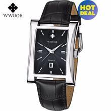 560bf75eba244 2017 Men Watches Top Brand Luxury Glow Hour Date Square Clock Male  Waterproof Casual Quartz Watch