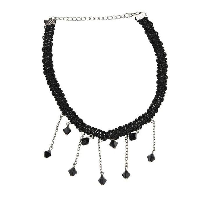 Gothic Girl Velvet Lace Harajuku Chokers Necklace Torques Necklaces Punk  Black