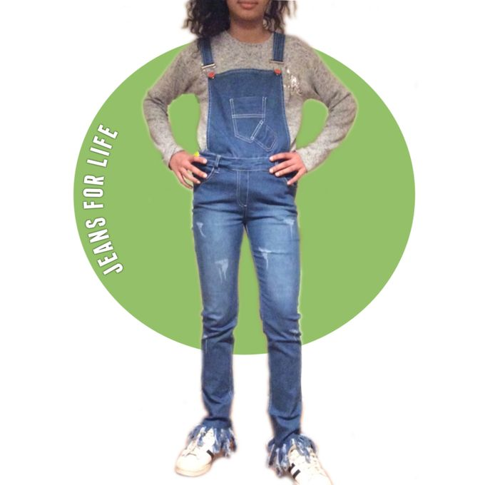 d0e0a7f6 Kids Cotton Jeans For 8-18 Years Old Girls Sleeveless Slim Stretch Overalls  Backless Rompers