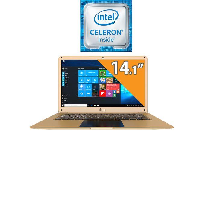 ZedAir H6 لاب توب - Intel Celeron - رام 6 جيجا بايت - هارد 500 جيجا بايت - شاشة 14.1 بوصة عالية الوضوح - وحدة معالجة رسوميات إنتل - Windows 10 - ذهبي