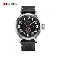 e8148ed22 CURREN 8283 Male Quartz Watch Multifunctional Six Pointers Date Big Dial  Wristwatch For Men-Black
