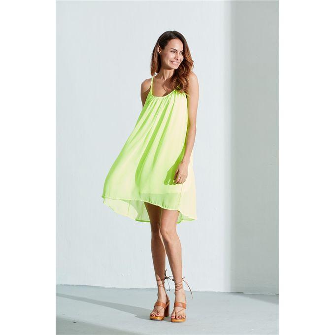 e131c0fa33d ZANZEA Women Summer Dress Spaghetti Strap Hollow Out Chiffon Beach Wear  Mini Dresses See Through Sundress