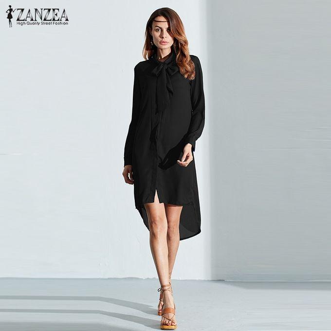 8c4d79b3078c ZANZEA Fashion Blusas Hot Sale Women Shirt Dress Long Sleeve Casual  Amsymetircal Chiffon Blouses Plus Size