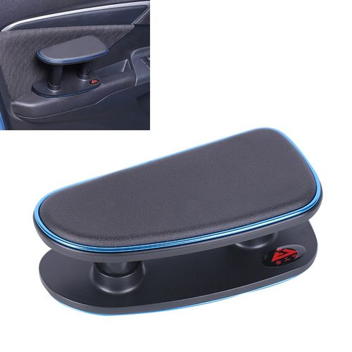 Car Armrest Left Elbow Support Universal Heightening Pad Central Armrest  Box Right Handrail(Blue)