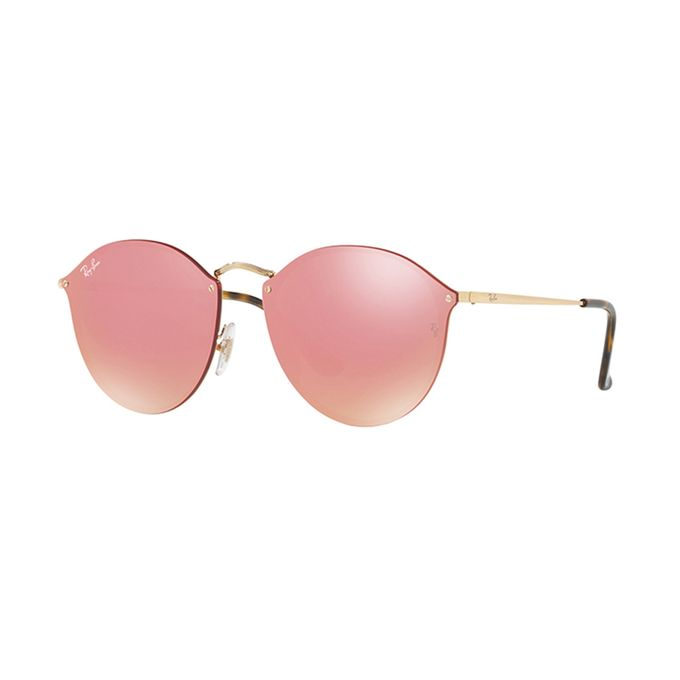 4afd33a9b1026 Sale on Ray-Ban Blaze Round RB 3574N 001 E4 Gold Pink Mirror