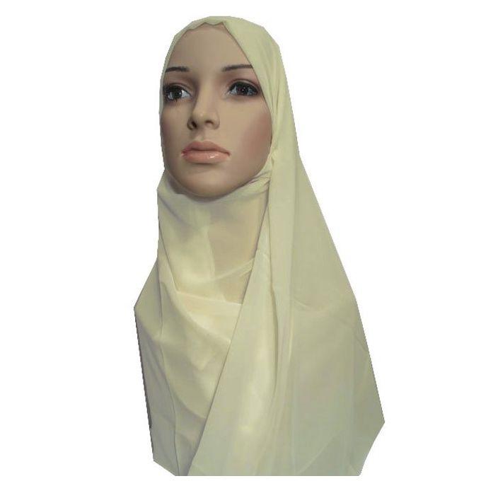 حجاب من الشيفون - 70 × 175 سم - سمني