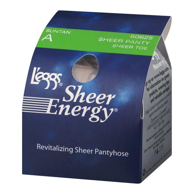 Leggs Sheer Energy Pantyhose Sheer Panty Sheer Toe A Suntan, 1.0 CT
