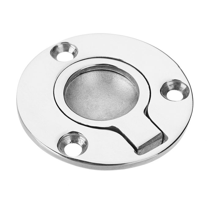 Order 50x41mm Stainless Steel Circle Recessed Flush Ring
